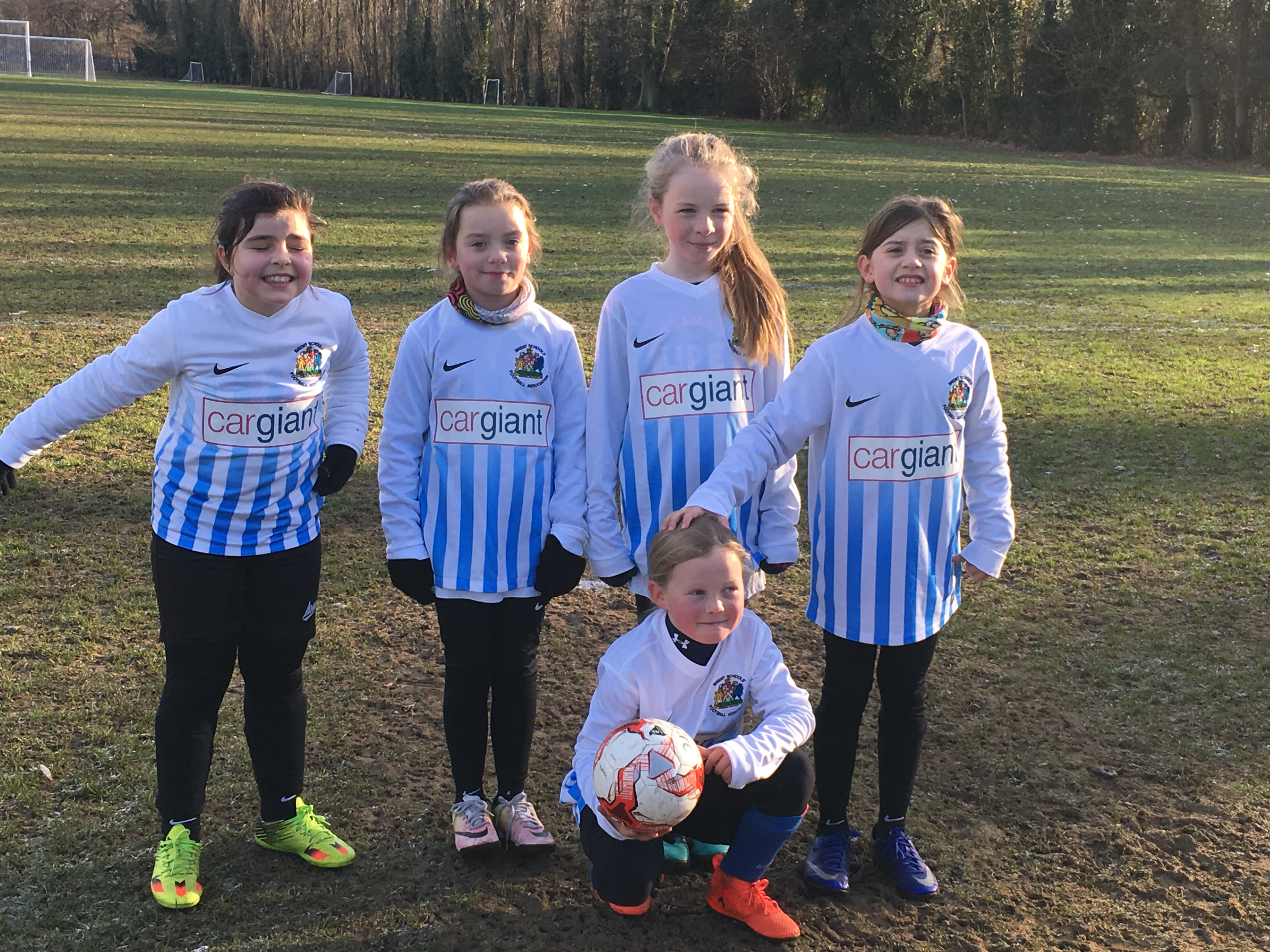 Brent's Under-10 Girls' team, 09/12/17