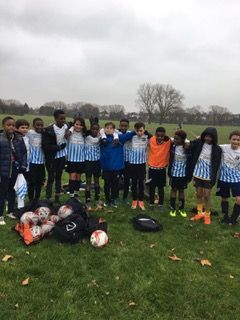 The U12 squad v Hounslow, 18/11/17