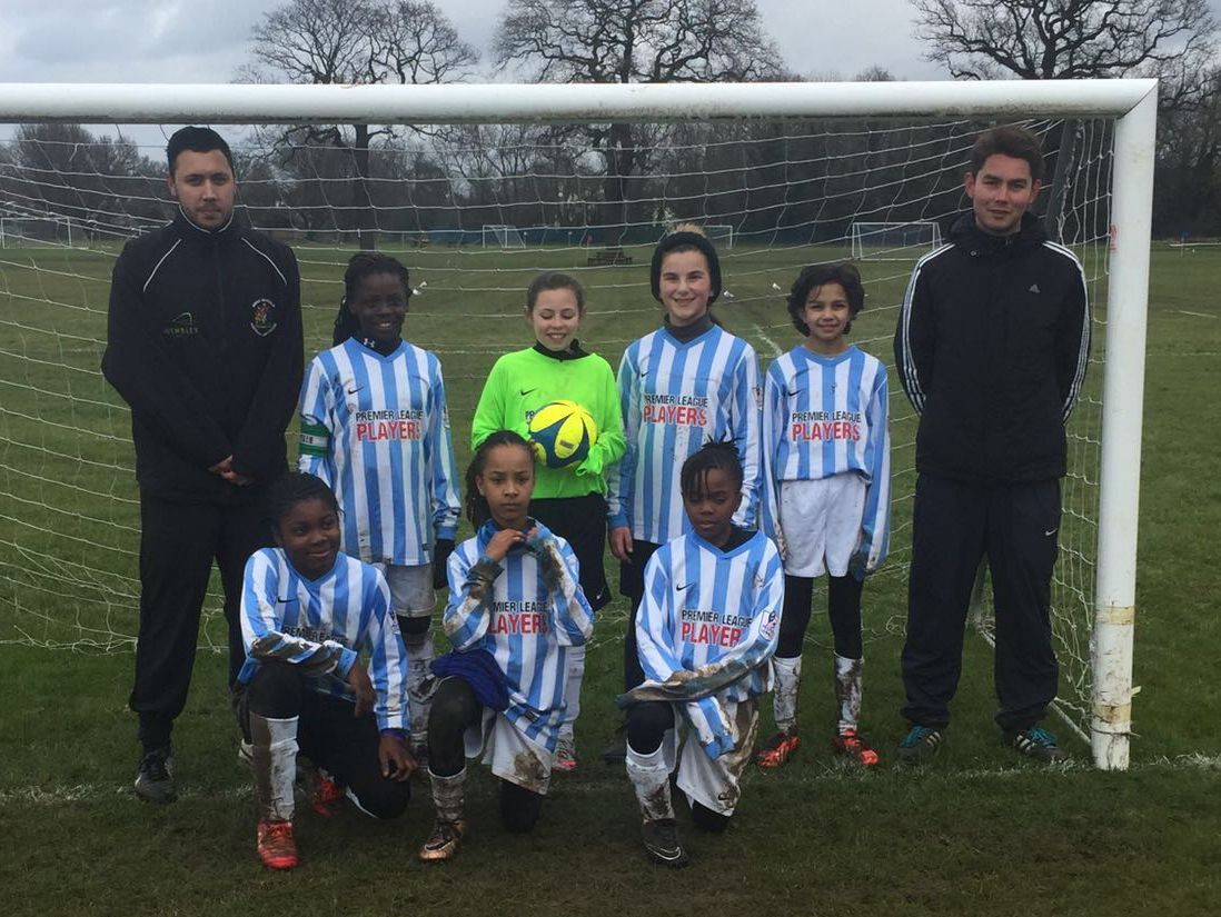 The Brent GirlsU11 team which played SouthLondon